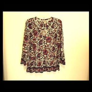 Lucky brand, peasant blouse from India.
